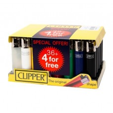 Clipper Original Flint Lighter 36+4 Promo Pack Smokers