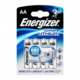 Energizer AA Ultimate Lithium Battery 4 pack Hardware