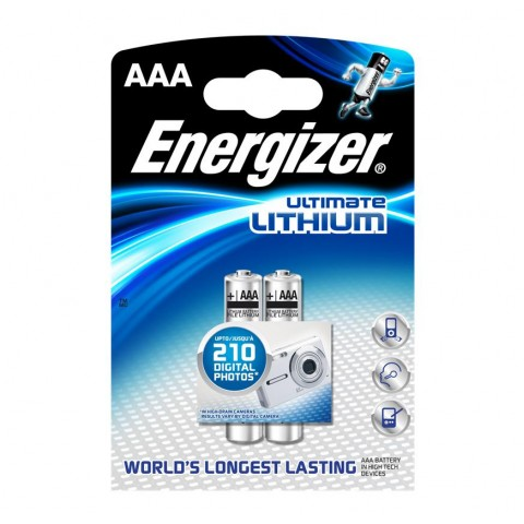 Energizer AAA Ultimate Lithium Battery 2 pack Hardware