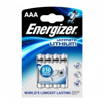 Energizer AAA Ultimate Lithium Battery 4 pack