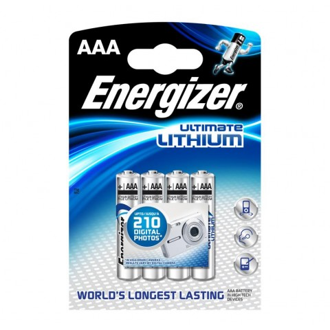 Energizer AAA Ultimate Lithium Battery 4 pack Hardware