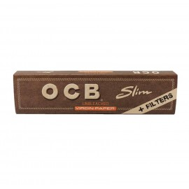OCB Slim Unbleached Virgin Papers & Filters Smokers