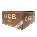 OCB Slim Unbleached Virgin Papers & Filters Smokers