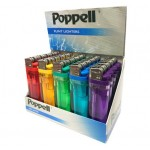 Poppell Flint Clear Disposable Lighter Smokers