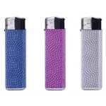 Prof Shiny Effect Electronic Refillable Lighter Smokers