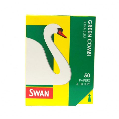 Swan Blue Combi Extra Slim Papers & Filter Tips Smokers