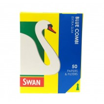Swan Blue Combi Extra Slim Papers & Filter Tips