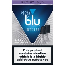 My Blu Intense Pod Blueberry 18mg 2 pack eCigarettes