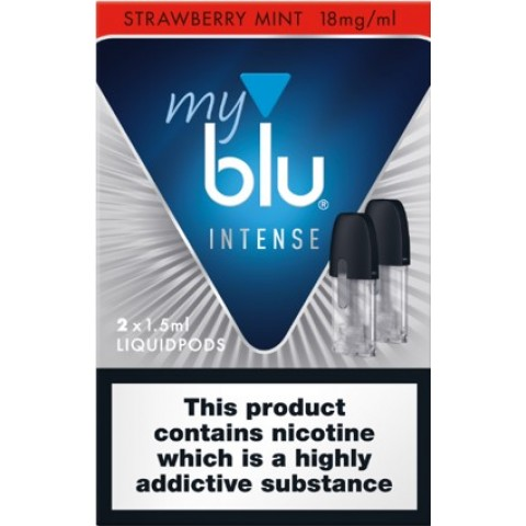 My Blu Intense Pod Strawberry Mint 18mg 2 pack eCigarettes