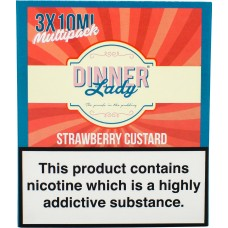Dinner Lady Strawberry Custard Sub Ohm E-Liquid 3 x 10ml Liquids