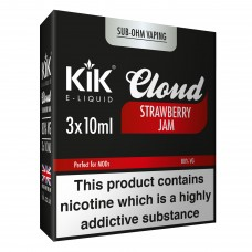 30ml Dripper Kik Cloud Vape Strawberry Jam Sub Ohm E-Liquid LIQUIDS