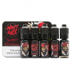 Nasty Juice Bad Blood Sub Ohm E-Liquid 5 x 10ml  Liquids