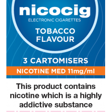 Nicocig Tobacco Cartomiser Refills Cartomisers