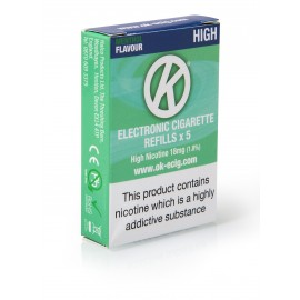 OK Menthol Cartomiser Cartridge Refills 5 Pack Cartomisers