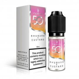 50/50 Vapouriz Rhubarb and Custard 10ml Liquids